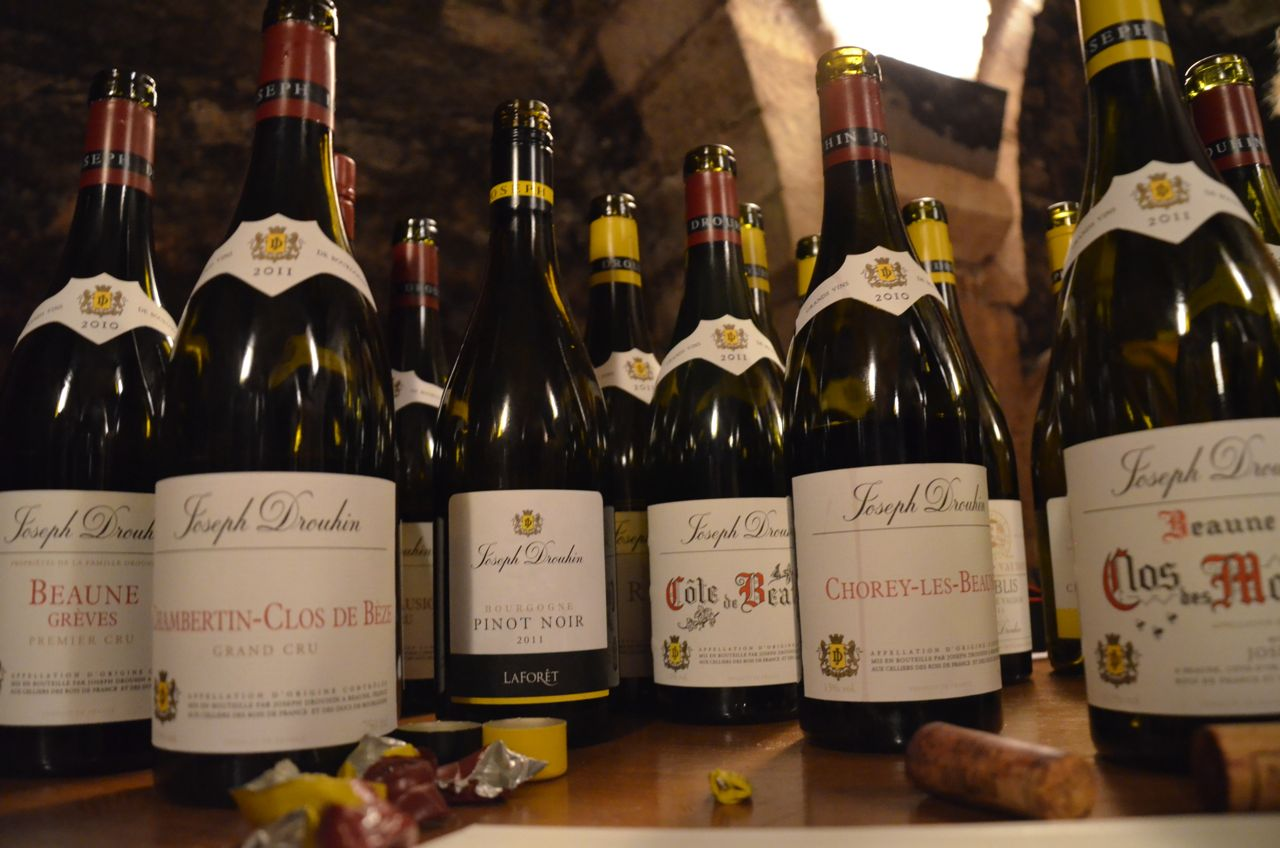 The wines we tasted at Joseph Drouhin